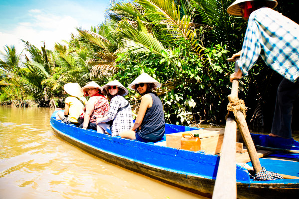 Mekong river life on Tonle Bassac