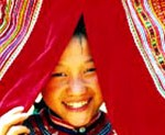 Ethnic Hmong smile during festival
