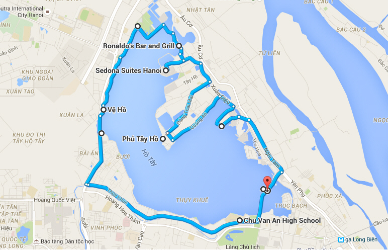 Hanoi-street-food-tour-cycling-route-map