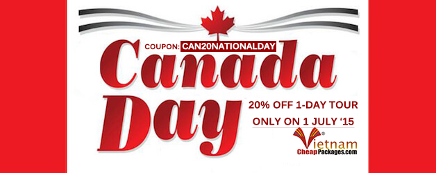 Coupon Code: CAN20NATIONALDAY – Only for Canadian travelers on Canada National Day