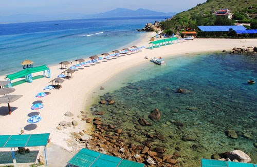Twin beach on Nha Trang Salangane island