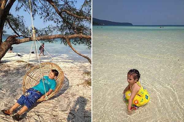 Koh Rong Samloen beach for family hoilidays