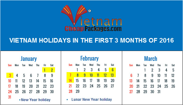 what are dates of Tet holiday in Vietnam 2016