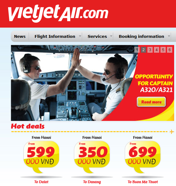 VietJet Air is our first tip to save money on air travel in Vietnam